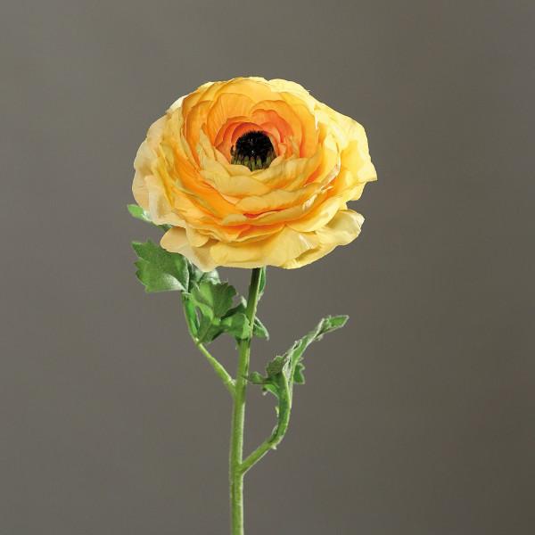 Kunstpflanze Ranunkel gelb