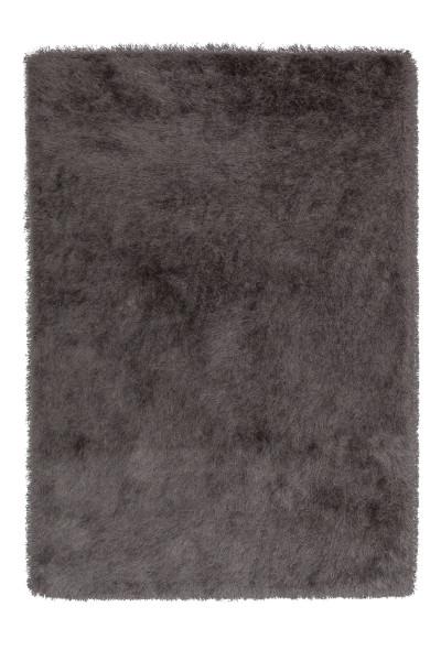 Hochflorteppich Glossy grau
