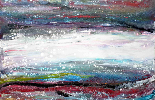 Bild abstrakt Pouring (LB 120x80 cm)