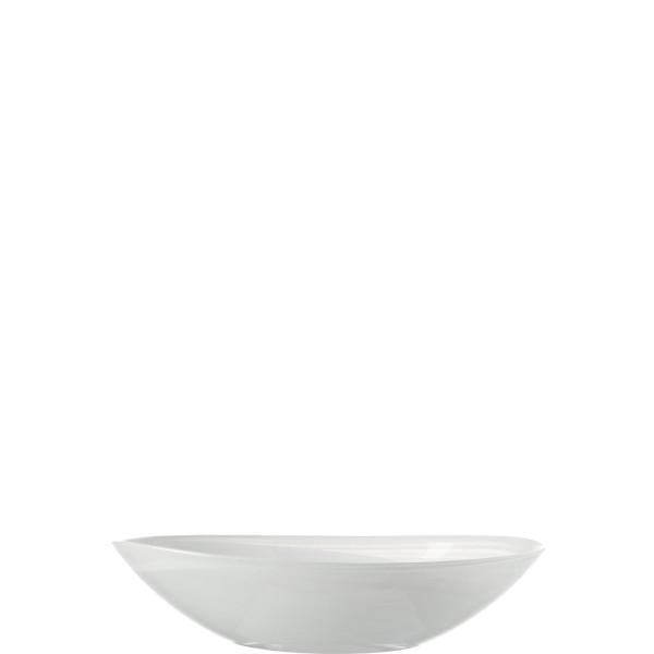 Schale Alabastro weiß oval (B 22 cm)