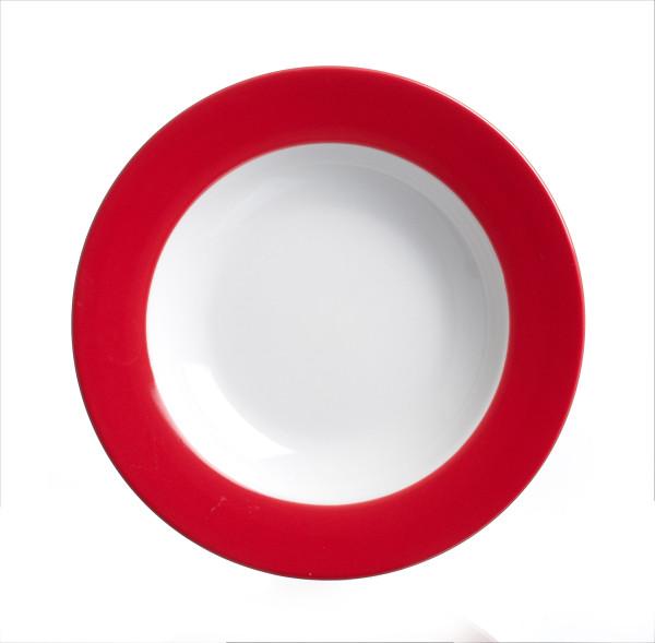 Suppenteller Doppio rot (D 22 cm)