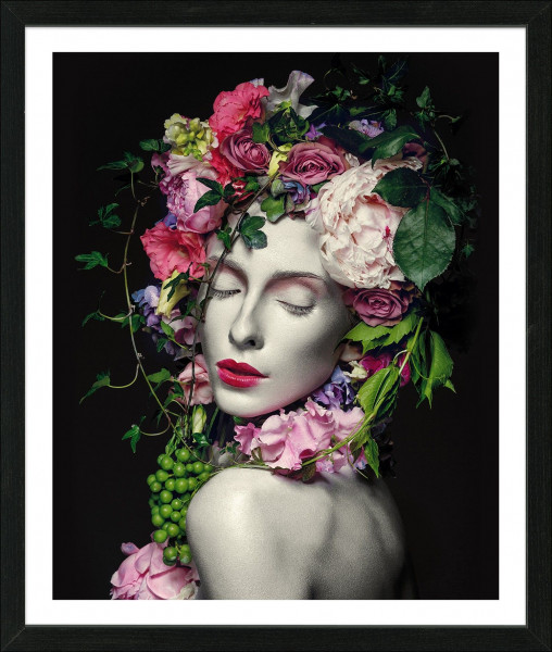 Gerahmtes-Bild FLOWERWOMAN