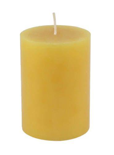 Kerze OKON gelb