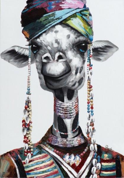 """Gemälde \""""Lustiges Lama"""