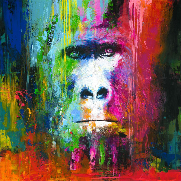 Originalbild COLOURFUL GORILLA