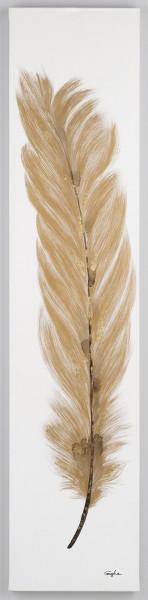 Wandgemälde Feder (BH 40x180 cm)