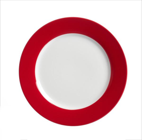 Dessertteller Doppio rot
