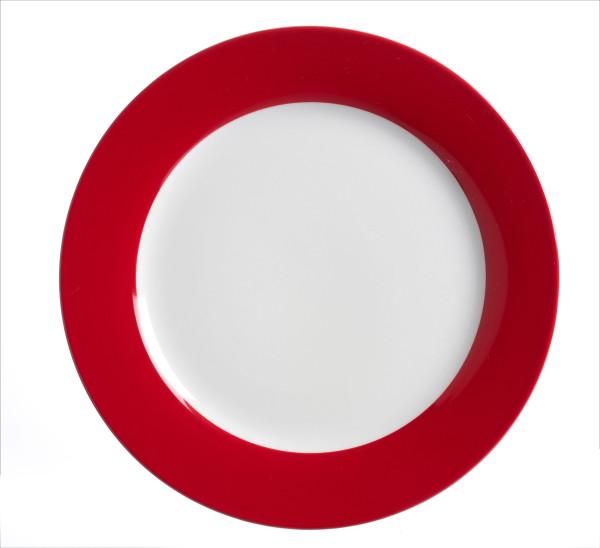 Speiseteller Doppio rot (D 27 cm)