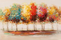 Painting Colorful trees (BH 120x80 cm)