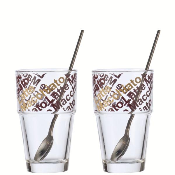 Latte-Macchiato-Glas-Set SOLO