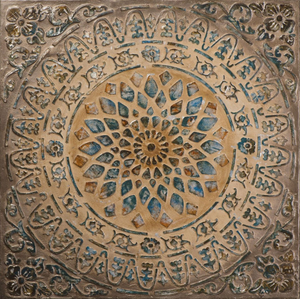Pailetten Mandala (LB 100x100 cm)
