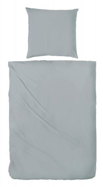 Bettwäsche Renforcé grau-grün