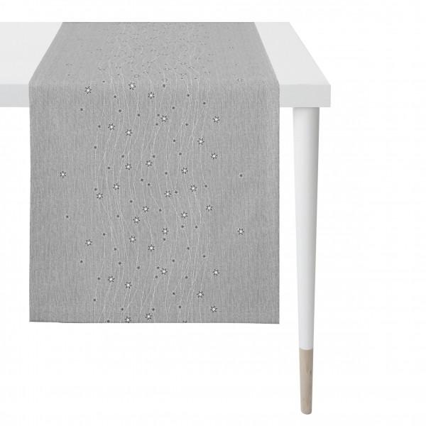 Tischläufer anthrazit/silber (BL 48x140 cm)