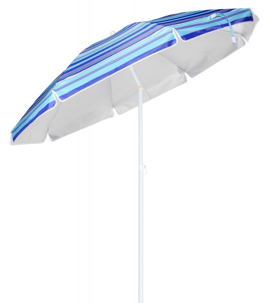 Sonnenschirm blau gestreift