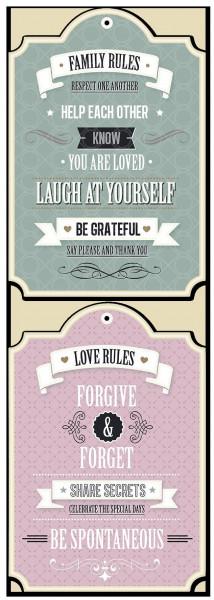 Schriftzug FAMILY RULES
