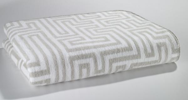 Wohnplaid weiß-silber (BL 150x200 cm)