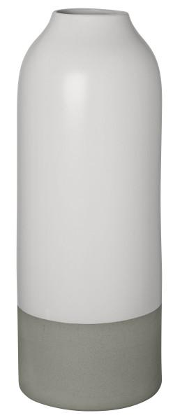 Vase weiß/grau matt