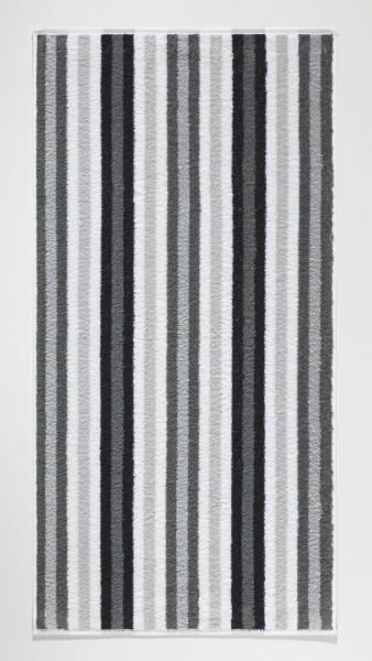 Handtuch Streifen anthrazit