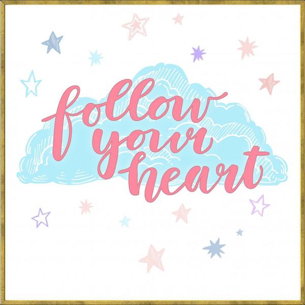 Gerahmtes-Bild FOLLOW HEART