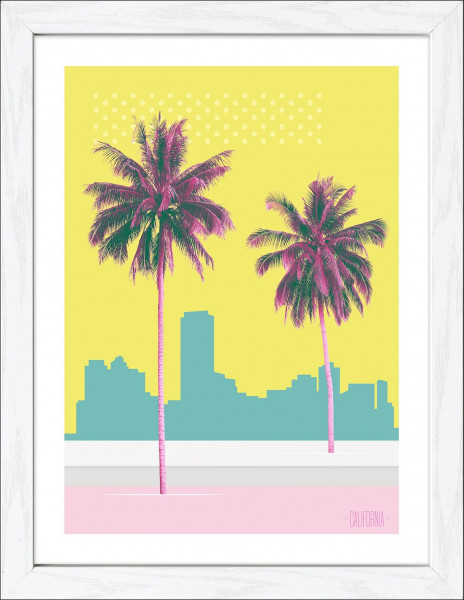 Gerahmtes-Bild PALMS ON BEACH