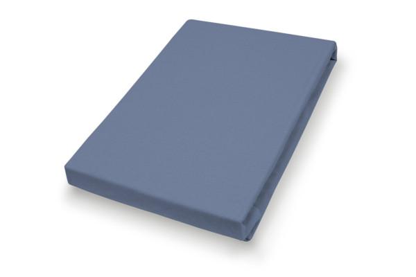 Spannbetttuch Jersey blau