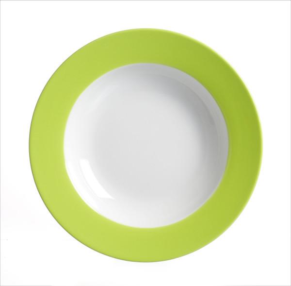 Suppenteller Doppio grün (D 22 cm)