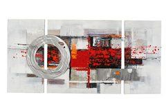 Abstrakt, Metallcircle (BH 146x70 cm)