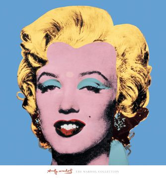 Kunstdruck Shot - Blue Marilyn (LB 71x65 cm)