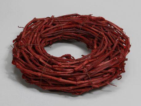 Kunstpflanze Kranz Zweige rot