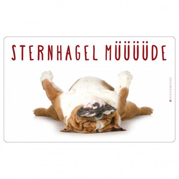 Brettchen - Sternhagel Müde (LB 23,5x14,5 cm)
