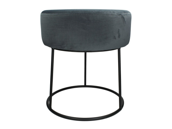 Hocker Pouf Velvet grey