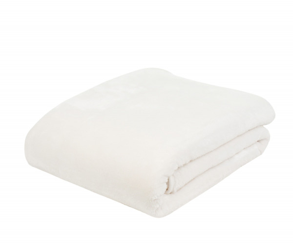Decke Cashmere wollweiß