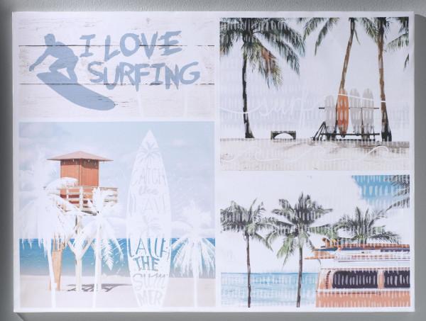Keilrahmenbild I LOVE SURFING