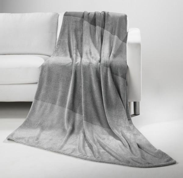 Wohndecke Flanell grau