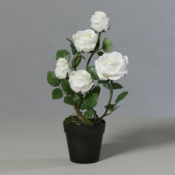 Kunstpflanze Rose 5 Blüten cre