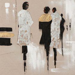 Bild People gold II (BH 70x70 cm)