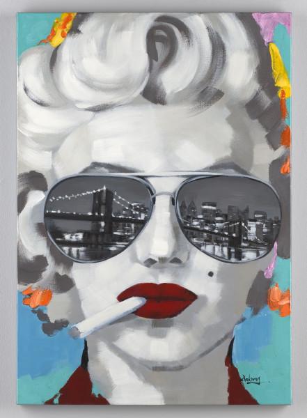 Wandgemälde Marylin (BH 70x100 cm)