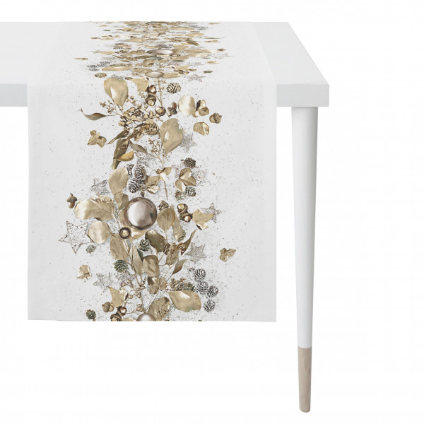 Tischläufer natur/gold (BL 46x135 cm)