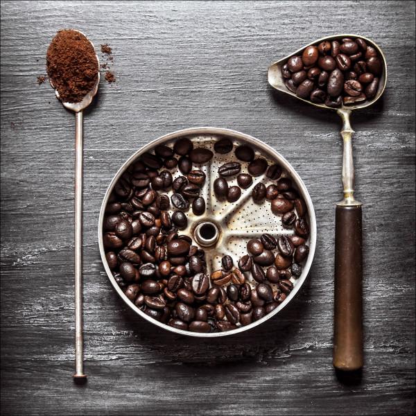 Glasbild CAFÉ IV