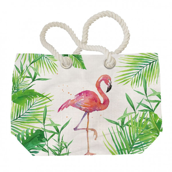 Strandtasche Tropical Flamingo (BHT 55x38x16 cm)
