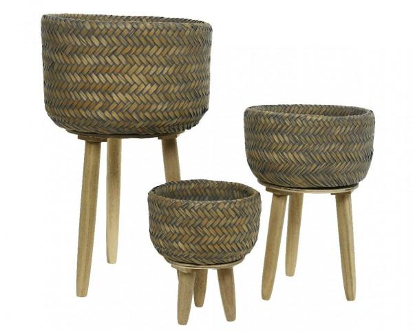 Bambuskorb auf Fuß klein