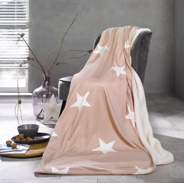 Schaffelldecke STARS pink