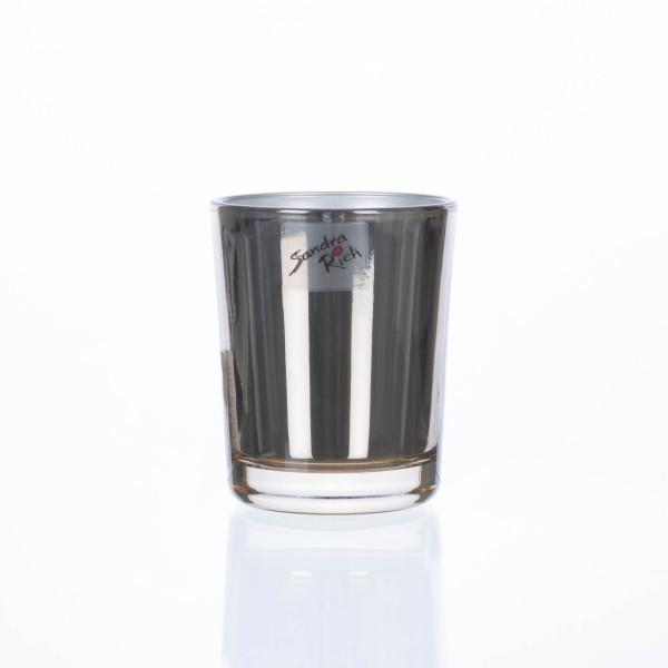 Teelichthalter MIRROR grau