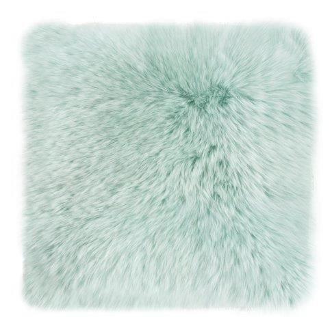 Kissen Schaffell grün