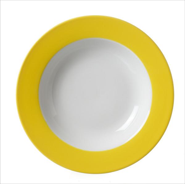 Suppenteller Doppio s-gelb (D 22 cm)