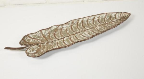 Wanddeko Metall Blatt gold
