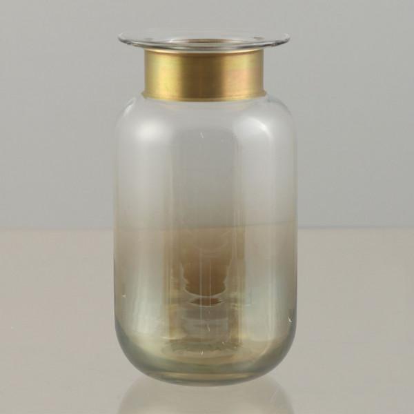 Vase mit Metallring