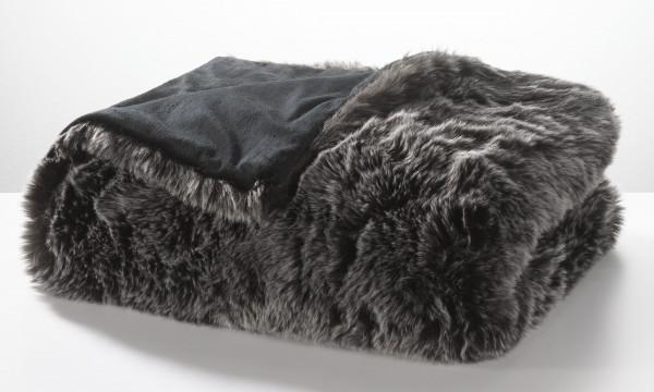 Felldecke MONDO schwarz (BL 150x200 cm)