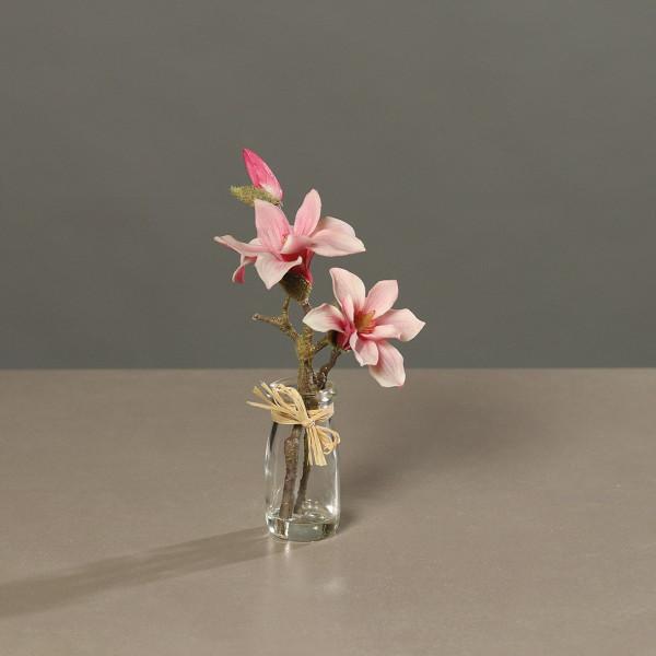 Magnolie im Glas pink/creme
