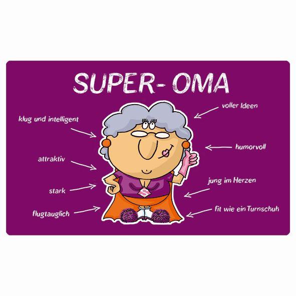 Brettchen - Super Oma (LB 23,5x14,5 cm)